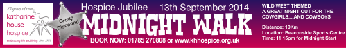 Katharine House Hospice Midnight Walk